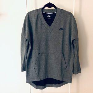 Nike Sweatshirt Tunic Grey Dark Grey Size M
